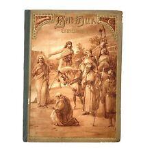 Antique German Ben Hur Hardcover Book, 96 Pages