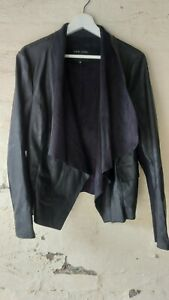 New Look Black  Waterfall Jacket Size 16