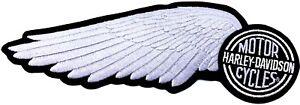 """Harley Davidson® Vintage Silver Wing Large 10"""" Patch Emblem EMB142063"""