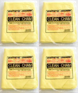 4 Chamois Synthetic Leather Washing Muti Purpose Cleaning Cloth Towel 64 x 43 cm