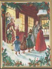 New Unused Tasha Tudor Carolers Christmas Card with Envelope by Caspari