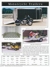 Prospekt Motorradanhänger Featherlite Motorcycle Trailers 10/00 USA brochure