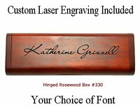 Rounded Custom Engraved Maple Pen Box #M320