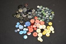 Lot Vintage Antique Bakelit Plastic Retro Sewing BUTTON Buttons Craft REd Blue