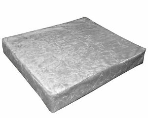 mn112t Silver Crushed Velvet Style 3D Box Sofa Seat Cushion Cover*Custom size*