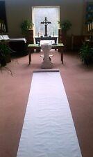 125ft White Fabric Wedding Aisle Runner