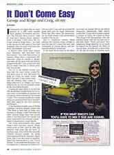 1957 CHEVROLET BEL AIR - RINGO STARR & CRAIG STEREO ~ GREAT 2-PAGE ARTICLE / AD
