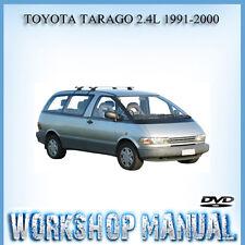TOYOTA TARAGO 2.4L 1991-2000 WORKSHOP REPAIR SERVICE MANUAL IN DISC