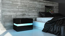 "High Gloss Modern Nightstand Bedside Table ""Flow"""
