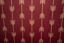 Burgundy Chevron Print #846 Nylon Lycra Spandex 4 Way Stretch Swimwear Fabric
