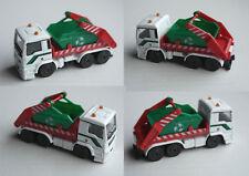 Majorette - MAN TGS LKW mit Absetzmulde weiß/rot/grün