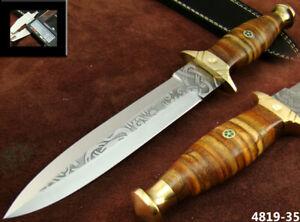 ALISTAR 12'' HANDMADE ACID ETCH STAINLESS STEEL HUNTING DAGGER KNIFE (4818-35