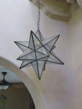 "Moravian Star -18""  glue chip glass   12 point"
