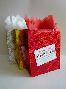 FEMALE 75th Birthday SURVIVAL KIT Humorous Gift Idea Unusual Fun Novelty Present