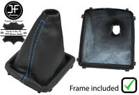 BLUE STITCH FOR FORD FOCUS MK2 04-2008 GEAR GAITER LEATHER WITH PLASTIC FRAME