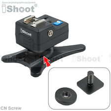 "Cold Foot to 1/4"" Screw Adapter for Camera Flash Holder Stand Hot Shoe Mount"