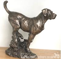Large heavy Bronze Labrador sculpture ornament figurine statue by David Geenty