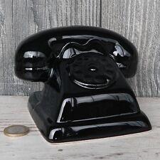 Spardose altes Telefon Keramik schwarz Wählscheibe Bakelit W 48 Sparschwein NEU