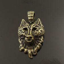 38025 Vintage Bronze Tone Alloy  Fox Head Mask Pendant Charms 25pcs