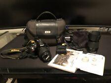 Nikon D3200 24.2Mp Digital Slr Camera w/ 18-55mm Lens, 55-200mm Lens + extras