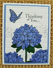 Stampin Up Handmade THINKING OF YOU Greeting CARD KIT Hydrangea Flowers