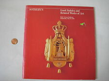 Sothebys JUDAICA CATALOG Jewish Judaism antique torah shofar ketubot vtg book