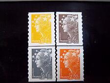 timbres autocollants 2008 / Marianne de Beaujard autoadhésifs 208-209-210-215
