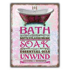 BATH ROOM Vintage Retro Toilet Bathroom Spa METAL SIGN WALL DOOR PLAQUE