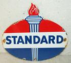 Standard Oil Porcelain Enamel Sign Gas Pump Man Cave Station