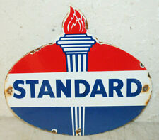 Standard Oil Vintage Style Porcelain Enamel Signs Gas Pump Man Cave Station