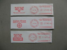 NETHERLANDS, 3x fragment with meterstamp 1994/96, music Take That