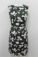 HOBBS Ladies Avocado Green Cotton Sleeveless Gloria Shift Dress UK8 BNWT RRP119