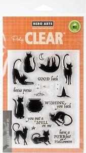 "Hero Arts Clear Cling Stamp Set ""Luna the Halloween Cat"" CM202"
