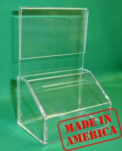 20 FUNDRAISING CHARITY DONATION BOXES WITH SIGN HOLDERS