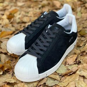 Adidas Superstar Pure Mens Black White Trainers Shoes