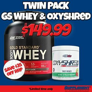#3 STACK: ON Gold Standard Whey 5lbs + EHPLabs Oxyshred Fat Burner