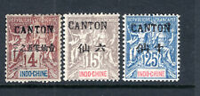 Indo-China, Offices in China, CANTON Overprint, 4c & 15c & 25c, Mint