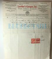 1922 Bill For New Imperial motorcycle Petrol & Oil Lowthers Garage Southhampton