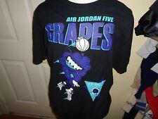 2XL Nike Air Michael Jordan 5 Grapes Short Sleeve T Shirt Tee Black Flight Club