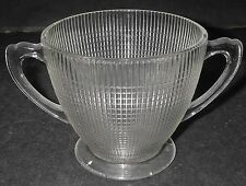 Canadian Depression Dominion Glass SAGUENAY Clear Open Sugar Bowl Handled