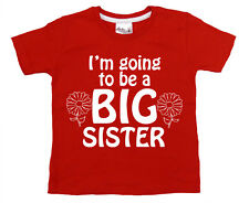 """Big Sister T-Shirt """"I'm Going to be Big Sister"""" Funny Girl Tee Clothes Present"""