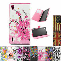Stand Flip Wallet Leather Cover Case Accessories For Various HUAWEi Phone Sets