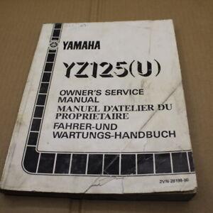 MANUEL REVUE TECHNIQUE D ATELIER YAMAHA YZ 125 U 1988 SERVICE MANUAL YZ125 125YZ