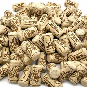 Natural Wine Corks #7 / #8 Premium Bulk Cork Stoppers - Straight Un-Recycled