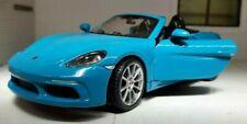 1:24 Escala Azul Porsche 718 Boxster Convertible Fundido Modelismo Coche Burago