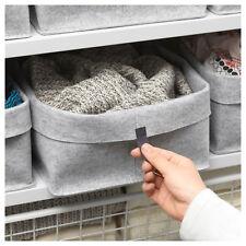 Set di 3 TESSUTO GRIGIO IKEA raggisar cesti di archiviazione (19x13x18cm & 25x25x18cm)