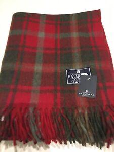 Highland Large Wool Rug Blanket in Dark Maple In Scottish Tartan Check Colour