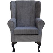 Slate Topaz Fabric Wing Back Orthopaedic Fireside Chair