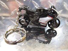 2016 Hot Wheels Black DUCATI 1199 Panigale motorcycle Custom Key Chain Ring