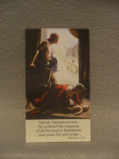 Holy Innocents Pro Life - Four Prayer Cards  Free Shipping